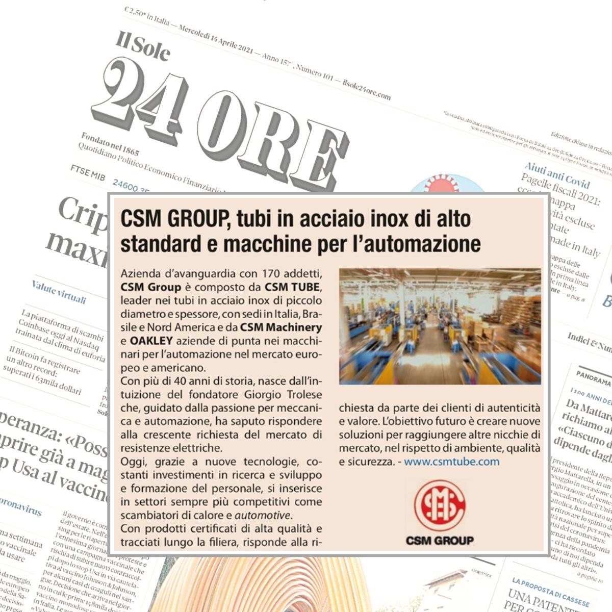 Articolo Sole 24 Ore VENETO CENTRO